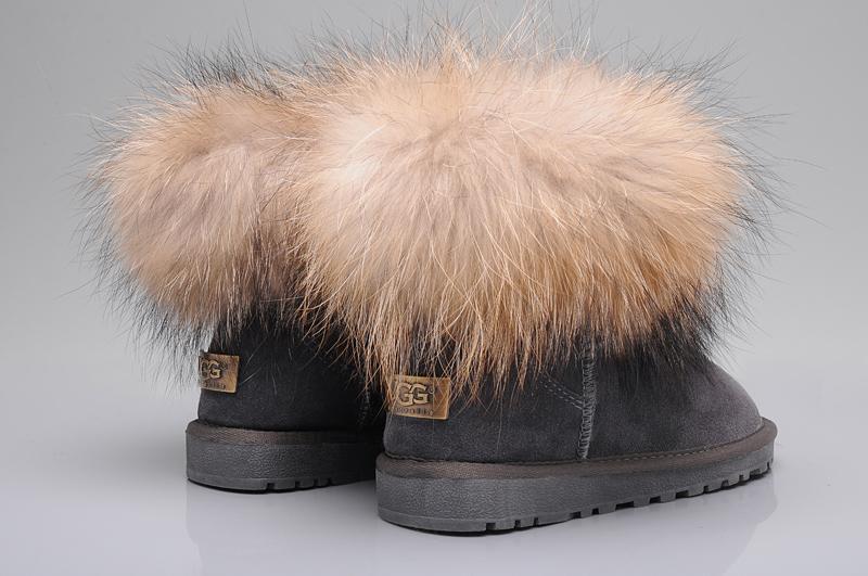 c234c771b16 UGG Fox Fur Mini Boots 5854 Grey [uggyi00000034-Grey] - CA$170.14 ...