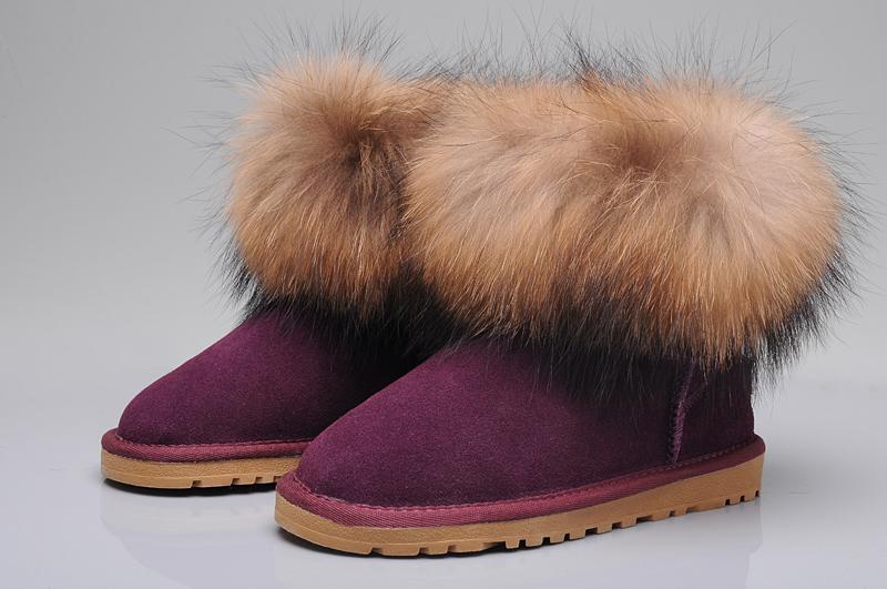 5049b9c4055 UGG Fox Fur Mini Boots 5854 Purple [uggyi00000034-Purple] - CA ...