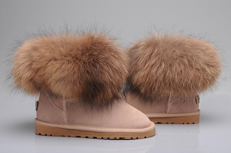a9c023f032b UGG Fox Fur Mini Boots 5854 Sand [uggyi00000034-Sand] - CA$170.14 ...