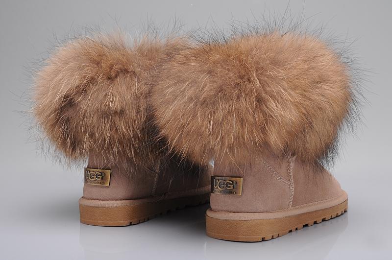 Ugg fox fur mini boots 5854 sand uggyi00000034 sand ca for Ugg fourrure exterieur