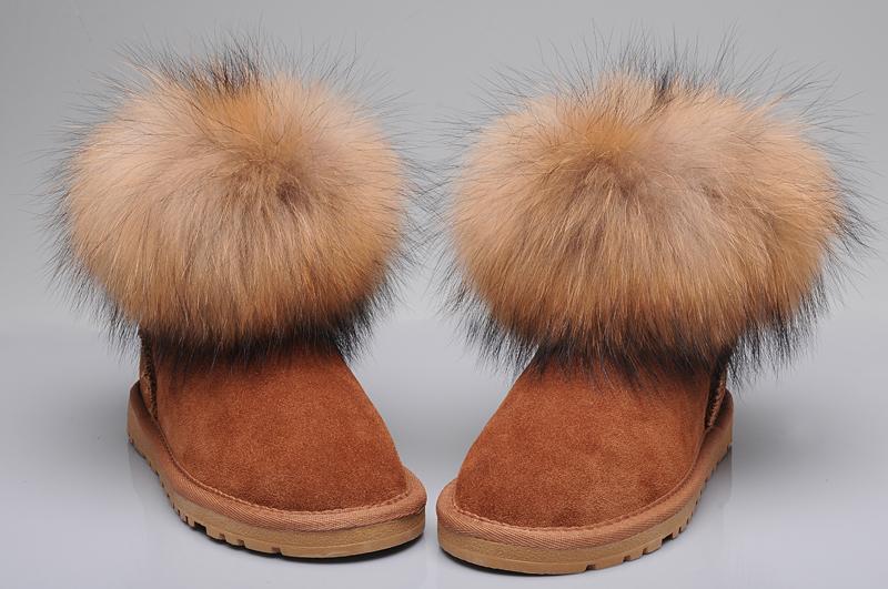 a0311893099 UGG Fox Fur Mini Boots 5854 Tan [uggyi00000034-Tan] - CA$170.14 ...