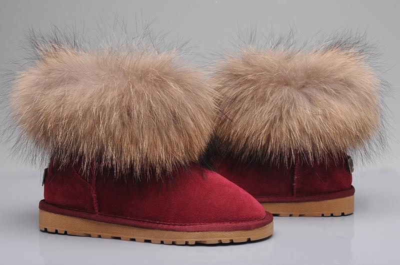 45ae461d31 ... günstige b0827 9541d; australia ugg fox fur mini boots 5854 wine red  7065e b113a