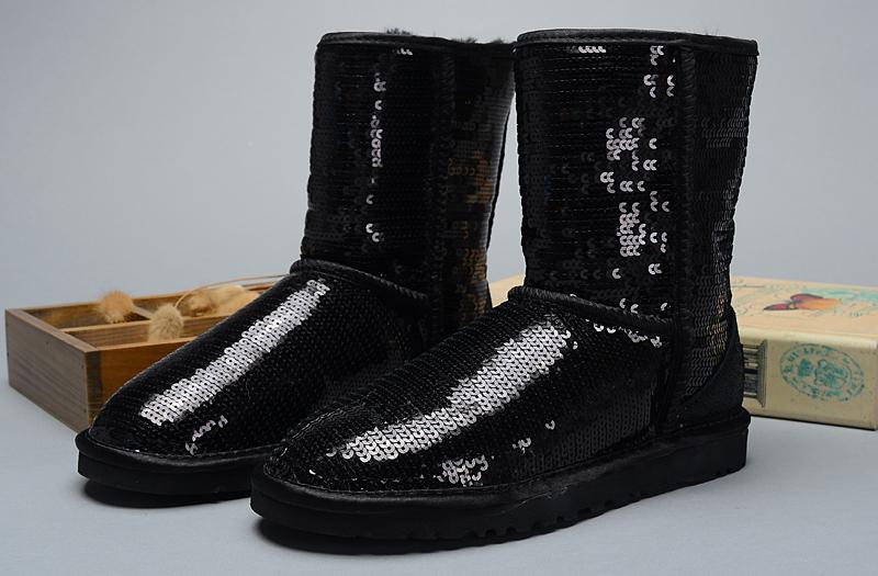 7832379e868 UGG Women Classic Short Sparkles 3161 Boots Black [uggzm00000071 ...
