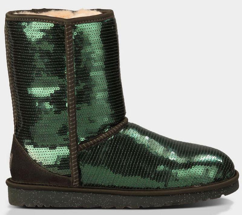 b4083910576 UGG Women Classic Short Sparkles 3161 Boots Dark Green ...