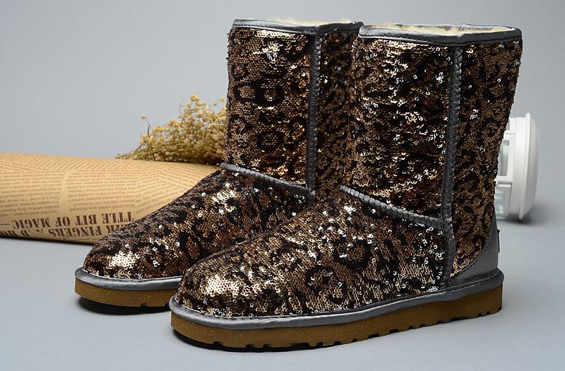 a496c8df73f9 UGG Classic Short Sparkles Boots Leopard [uggzm00000069-Leopard ...
