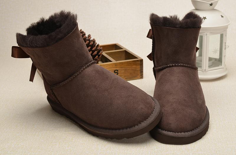 2fa336b14b1 UGG Women Mini Bailey Bow Boots 1005062 Chocolate [uggzm00000048 ...