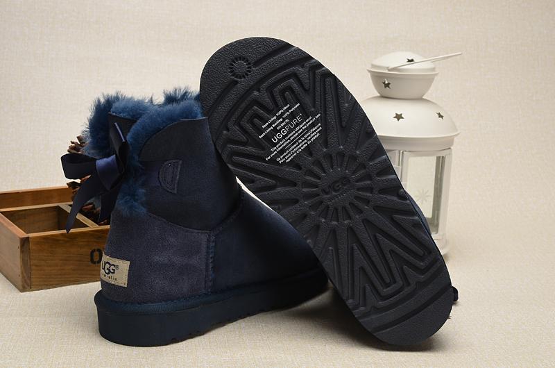dae577fb2bd UGG Women Mini Bailey Bow Boots 1005062 Navy [uggzm00000048-Navy ...